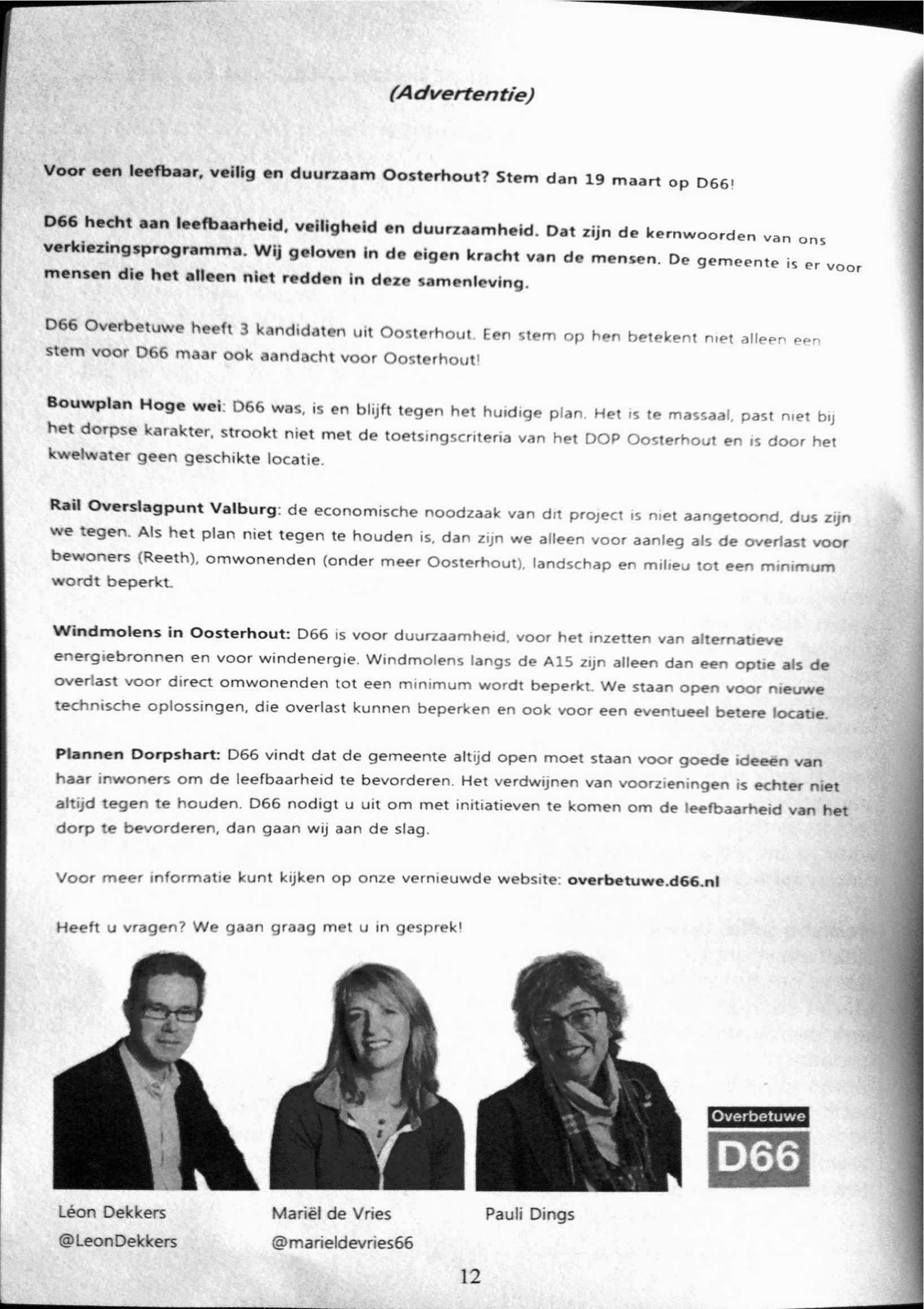 Dorpsgeluiden Oosterhout maart 2014